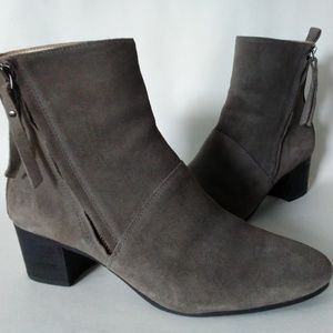 Women's Banana Republic Suede Ankle Boots Gray 8.5